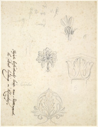 Drawing from a set of 16 architectural details in N. India made between 1786 and 1792 1804